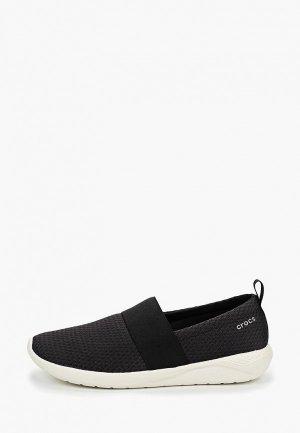 Слипоны Crocs. Цвет: черный