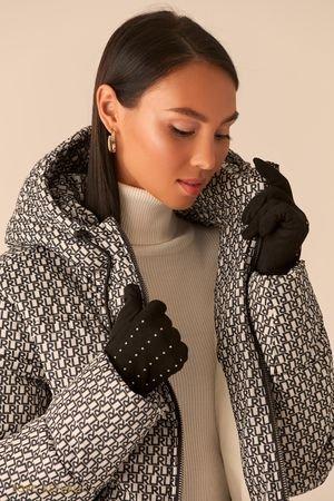 Перчатки с декором из статсов черного цвета LOVE REPUBLIC