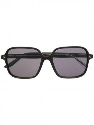 Солнцезащитные очки в квадратной оправе Snob. Цвет: черный