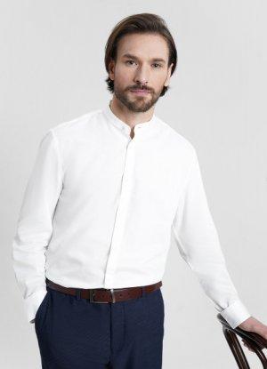 Рубашка с длинными рукавами O`Stin. Цвет: белый