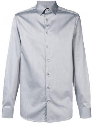 Однотонная рубашка Calvin Klein 205W39nyc. Цвет: серый