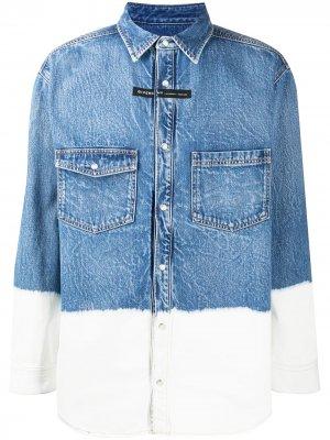 Джинсовая рубашка в стиле колор-блок Givenchy. Цвет: 411 navy/белый
