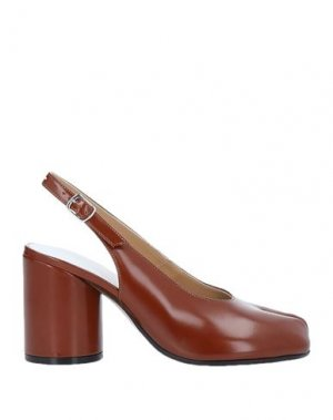 Туфли MAISON MARGIELA. Цвет: коричневый