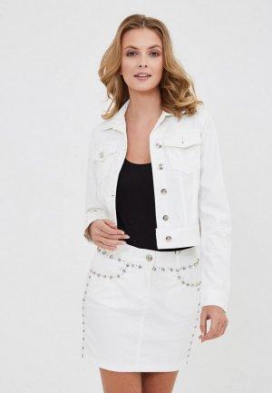 Куртка джинсовая DSHE. Цвет: белый