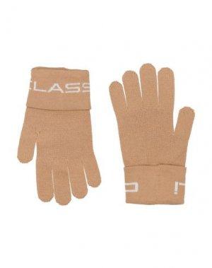 Перчатки CAVALLI CLASS. Цвет: песочный