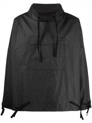 Непромокаемый анорак с капюшоном Maison Margiela. Цвет: черный