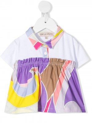 Рубашка поло с принтом Emilio Pucci Junior. Цвет: белый