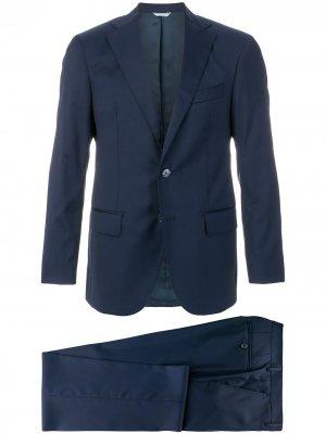 Классический костюм-двойка Fashion Clinic Timeless. Цвет: синий