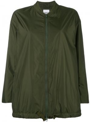 Легкая куртка-бомбер Aspesi. Цвет: зелёный