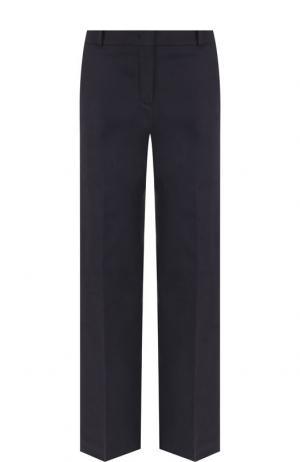 Однотонные брюки из хлопка Loro Piana. Цвет: темно-синий