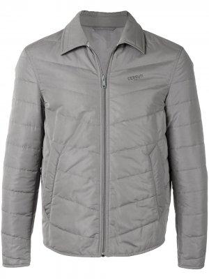 Стеганая куртка Cerruti 1881. Цвет: серый