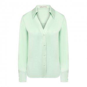 Шелковая блузка Alice + Olivia. Цвет: зелёный