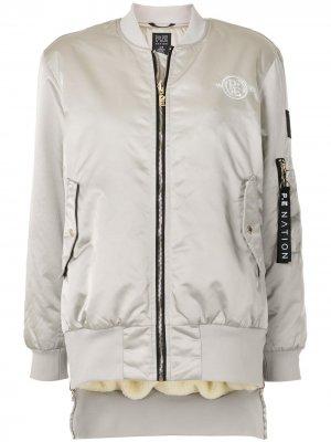 Куртка-бомбер с нашивкой-логотипом P.E Nation. Цвет: серебристый