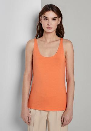 Майка Tom Tailor. Цвет: оранжевый