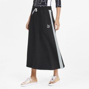 Юбка Classics Long Skirt PUMA. Цвет: черный