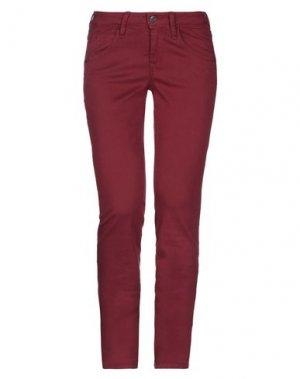 Повседневные брюки FORNARINA. Цвет: красно-коричневый