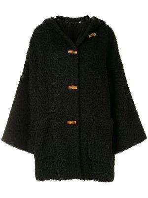 Дафлкот с капюшоном Gucci Pre-Owned. Цвет: черный