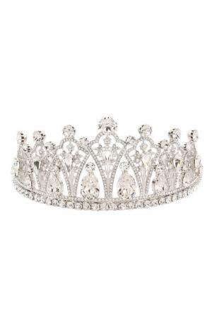 Диадема с отделкой кристаллами Swarovski Dolce & Gabbana. Цвет: серебряный