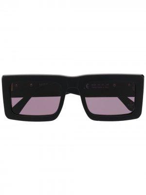 Солнцезащитные очки Wings Templo в прямоугольной оправе Marcelo Burlon County of Milan. Цвет: черный