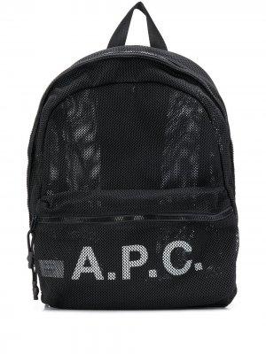 Рюкзак с логотипом A.P.C.. Цвет: черный