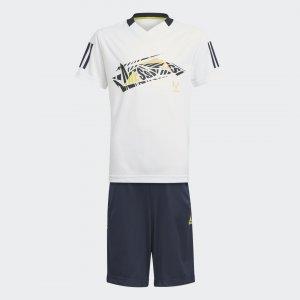 Комплект: футболка и шорты Messi Summer Performance adidas. Цвет: белый