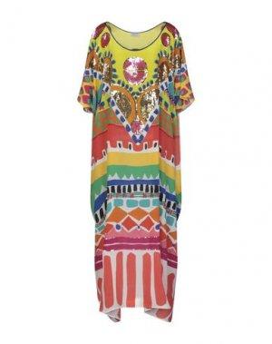 Длинное платье BONITA. Цвет: кислотно-зеленый