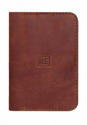 Обложка для паспорта Reconds. Цвет: коричневый