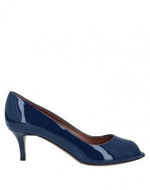 Туфли EMPORIO ARMANI. Цвет: синий