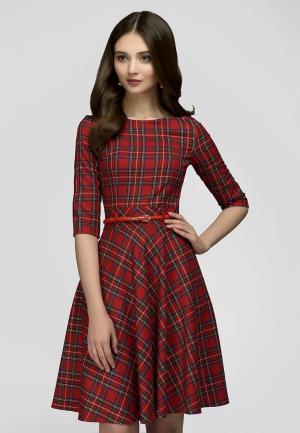 Платье D&M by 1001 dress. Цвет: красный