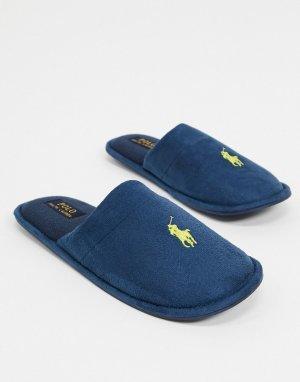 Темно-синие слиперы Ralph Lauren-Темно-синий Polo Lauren