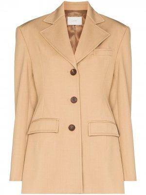 Padded shoulders single-breasted blazer LVIR. Цвет: нейтральные цвета