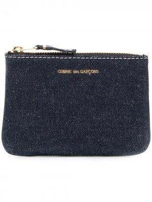 Джинсовый кошелек Comme Des Garçons Wallet. Цвет: синий