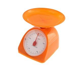 Весы luazon lvkm-502, кухонные, механические, до 5 кг, чаша 200 мл, оранжевые Home
