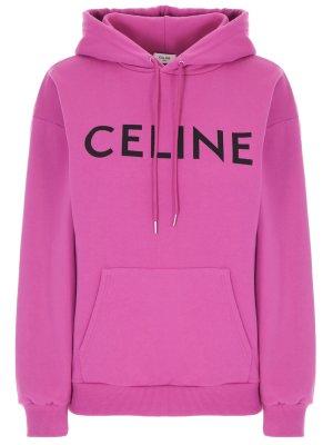 Худи хлопковое с логотипом CELINE