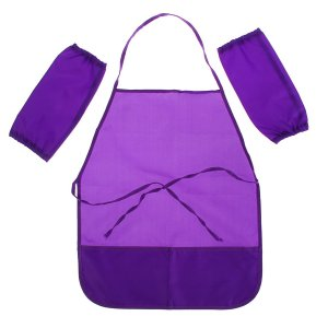 Фартук для труда + нарукавники 490 х 390/250 160 мм, стандарт (рост 116-152 см), фиолетовый Calligrata
