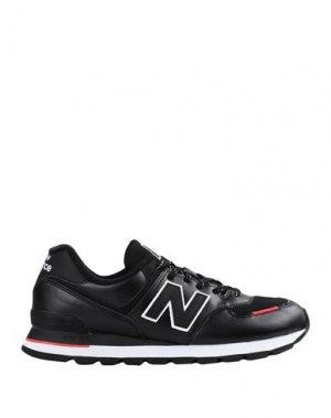 Низкие кеды и кроссовки NEW BALANCE. Цвет: черный