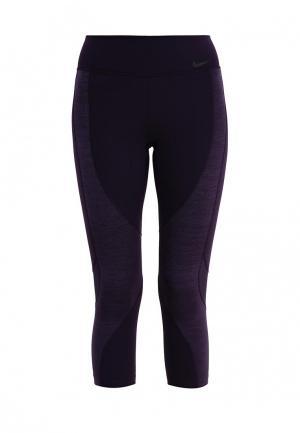 Капри Nike W NK PWR LGNDRY CPRI TI VNR. Цвет: фиолетовый