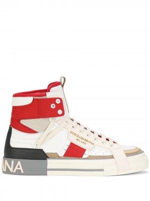 Высокие кроссовки 2.Zero со вставками Dolce & Gabbana. Цвет: белый