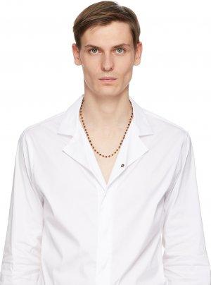 Brown & Silver Bead Necklace Giorgio Armani. Цвет: 8352 brown