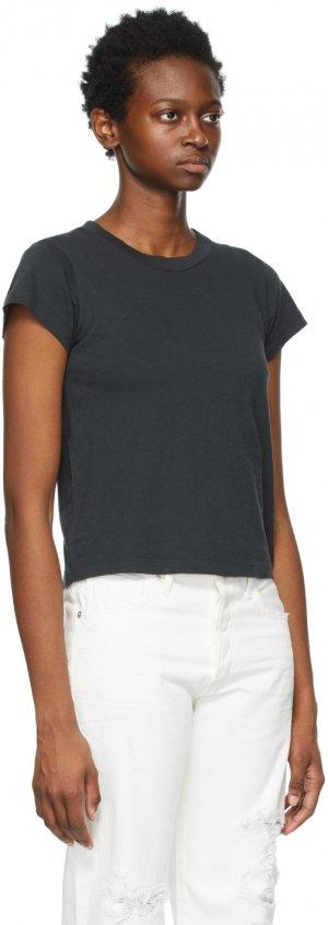 Black Slim Juliette T-Shirt Citizens of Humanity. Цвет: black