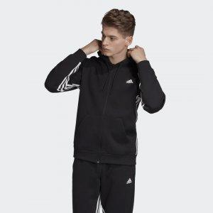 Толстовка Must Haves 3-Stripes Athletics adidas. Цвет: черный