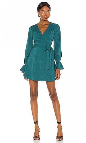 Платье mini House of Harlow 1960. Цвет: сине-зеленый