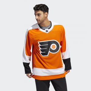 Оригинальный хоккейный свитер Flyers Home Performance adidas. Цвет: оранжевый