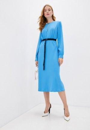 Платье Ermanno Scervino. Цвет: голубой