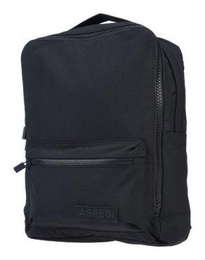 Рюкзаки и сумки на пояс ASPESI. Цвет: черный