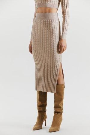 Трикотажная юбка-карандаш с косами LOVE REPUBLIC