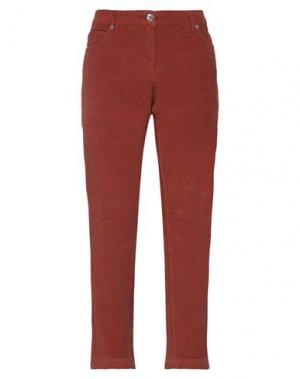 Повседневные брюки HENRY COTTON'S. Цвет: ржаво-коричневый
