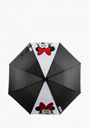 Зонт складной PlayToday. Цвет: черный