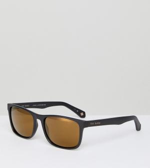 Черные квадратные солнцезащитные очки TB1493 001 Ted Baker. Цвет: черный