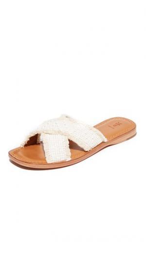 Потрепанные сандалии без застежки Hayley Frye. Цвет: белый